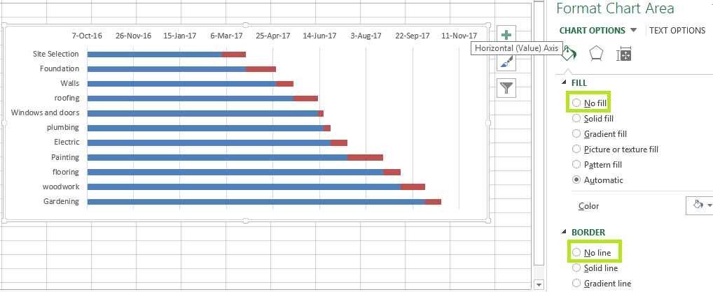 Gantt chart in excel datascience made simple gantt chart in excel 7 ccuart Image collections